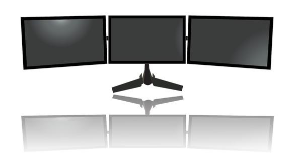 Triple Monitors Tv Flat