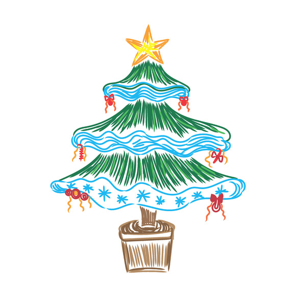 Christmas Tree Sketch