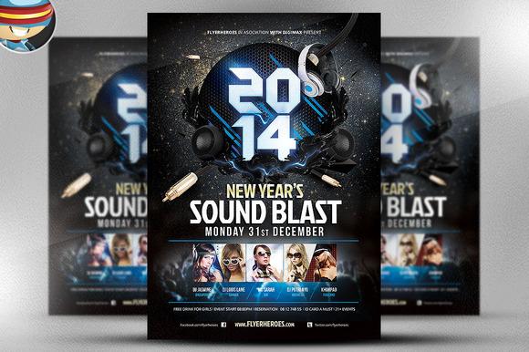 New YearЎЇs Sound Blast Flyer