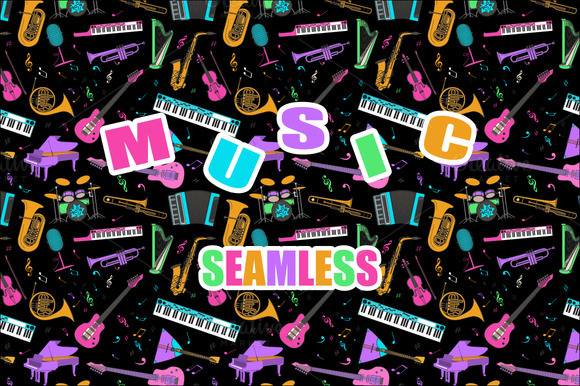 Music Seamless Pattern Set