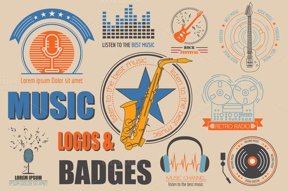 Music Logos Badges