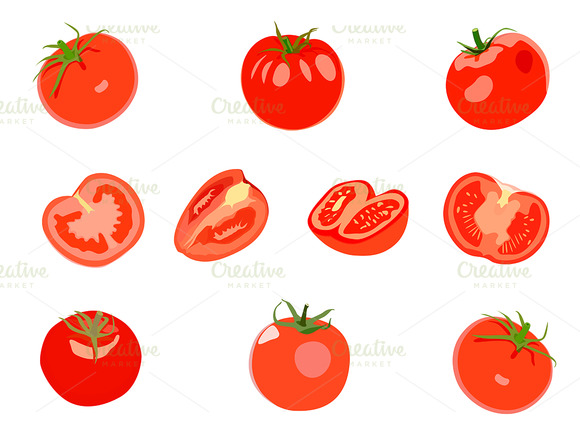 Realistic Red Tomatos