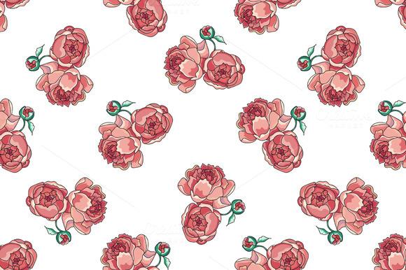 Rosy Peony Pattern