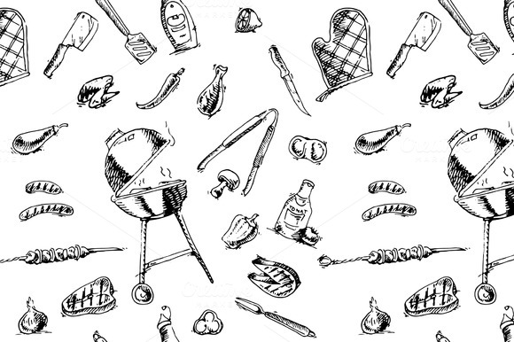 Seamless Pattern Of Barbecue