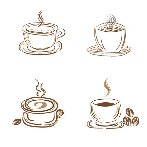 Cups Mugs Vector Sketch