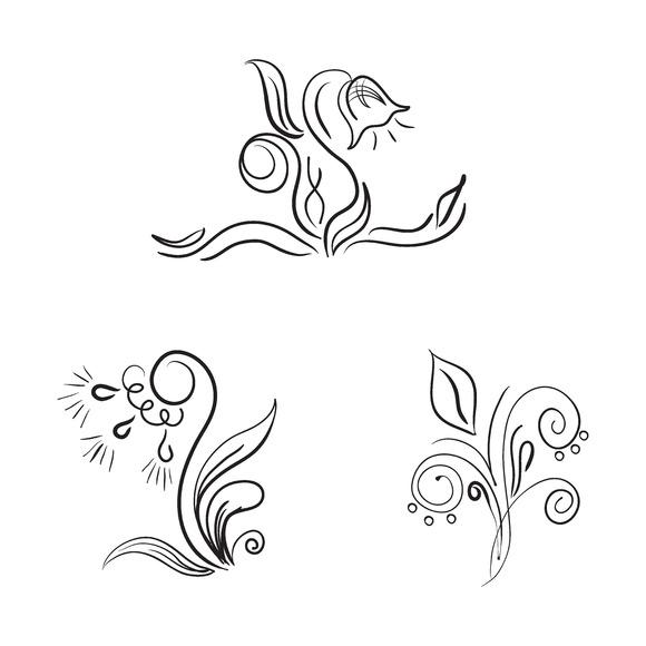 Flowers Sketch Vector