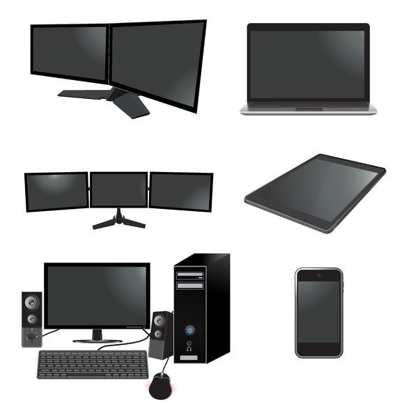 Electronics Set Laptop Tablet