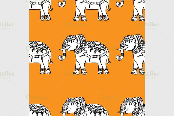 Background With Elephants