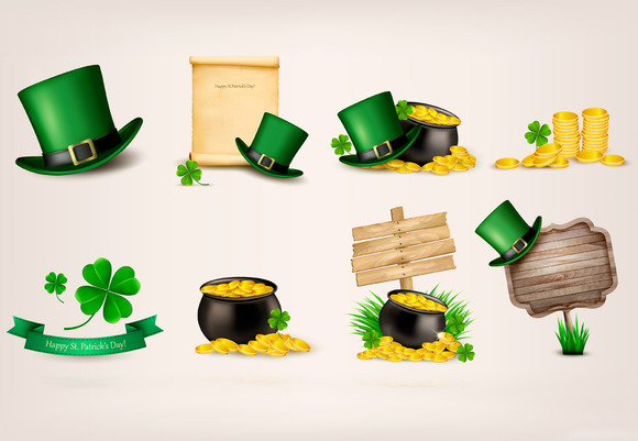 Set Of St.Patrick S Day Related Icon
