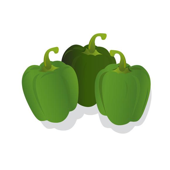 Green Peppers Vector