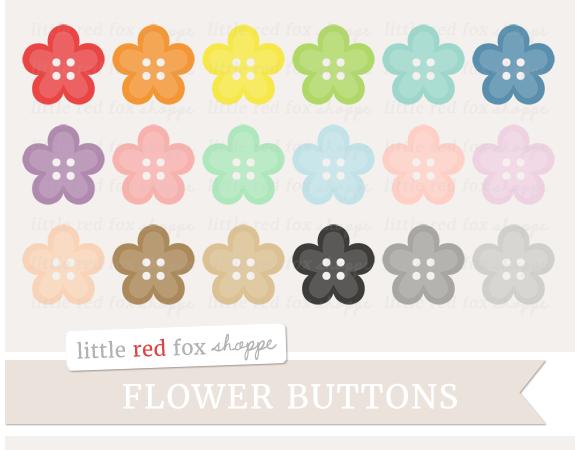 Flower Button Clipart