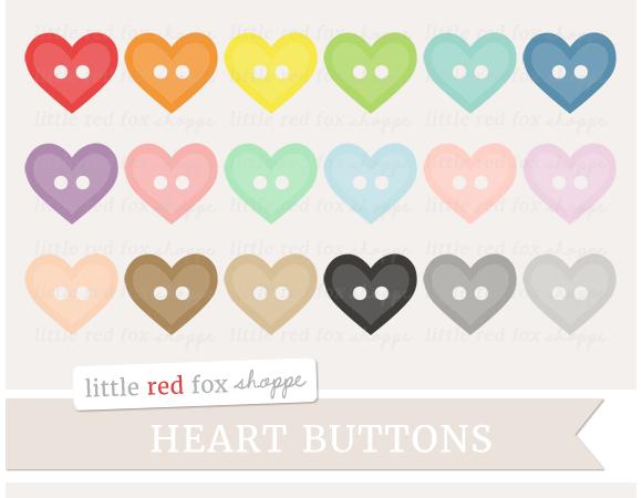 Heart Button Clipart