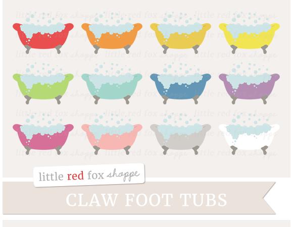 Claw Foot Tub Clipart