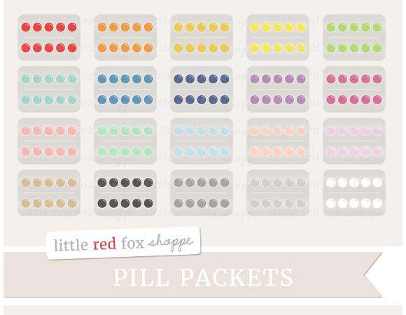 Pill Packet Clipart