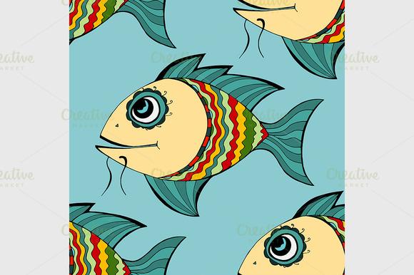 Seamless Fish Background