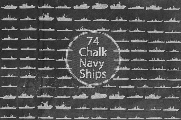 Chalk Navy Ships