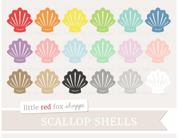 Scallop Shell Clipart
