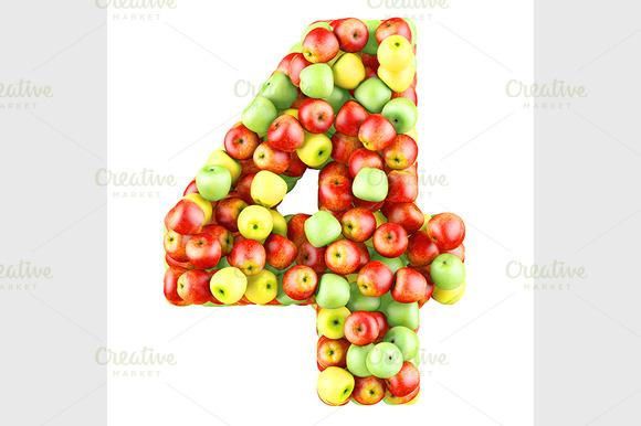 Fruit Number 3d