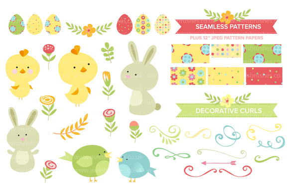 Cute Easter Clipart Patterns