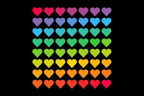 Hearts Gradient Pattern