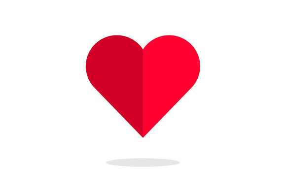 Vector Flat Love Heart