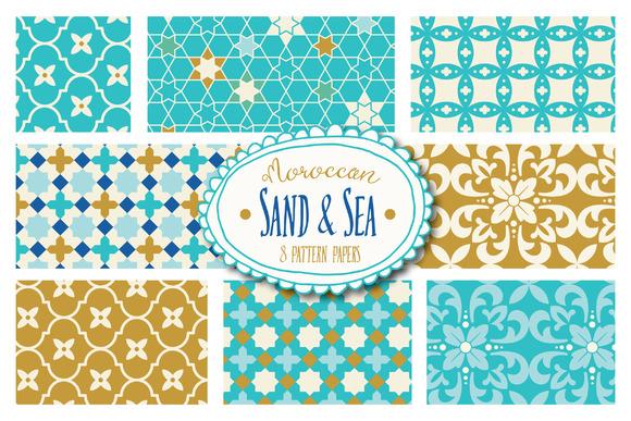 Moroccan Sand Sea Patterns