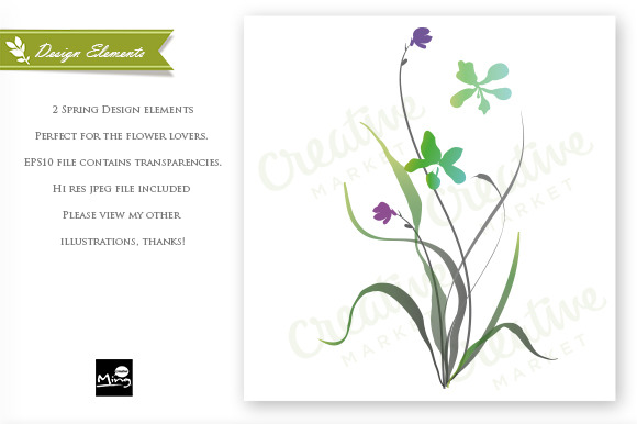 Flowers Design Elements Set