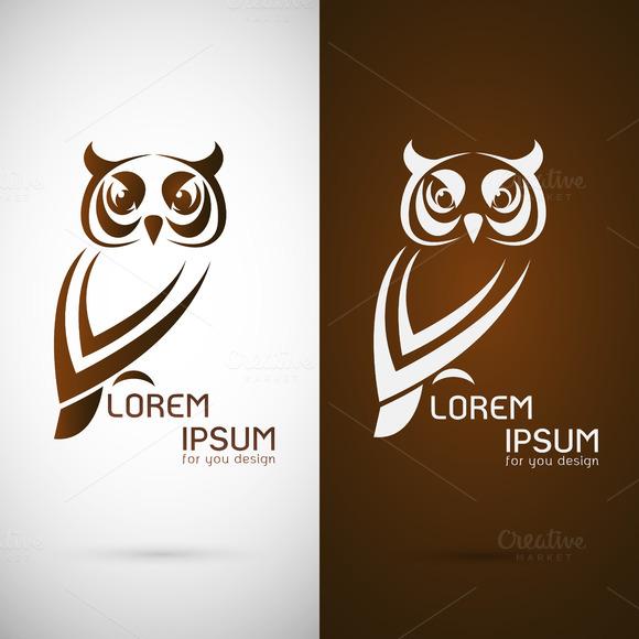 Owl Design Logo Symbol