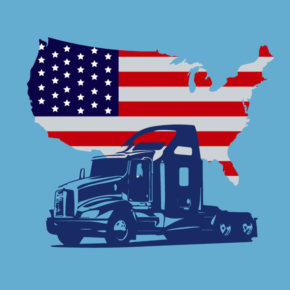 Semi Truck Map Of The USA