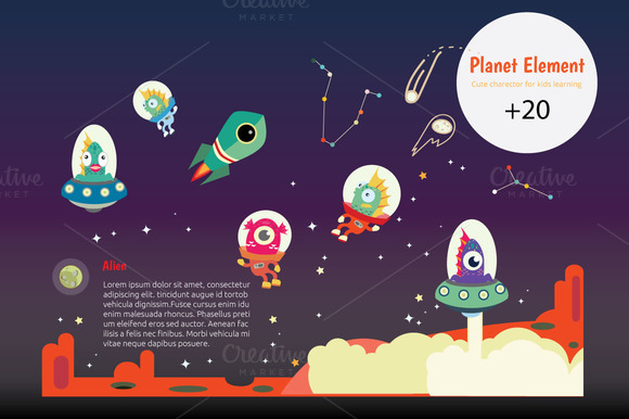 Planet KIDS Infographic Learning I