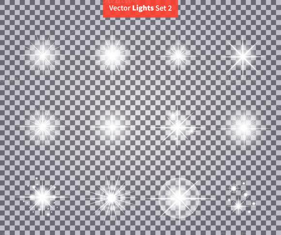 Set Glows Bright Star Light