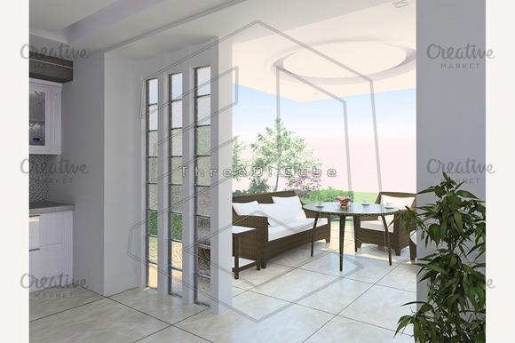 Hall And Terrace Arrangement