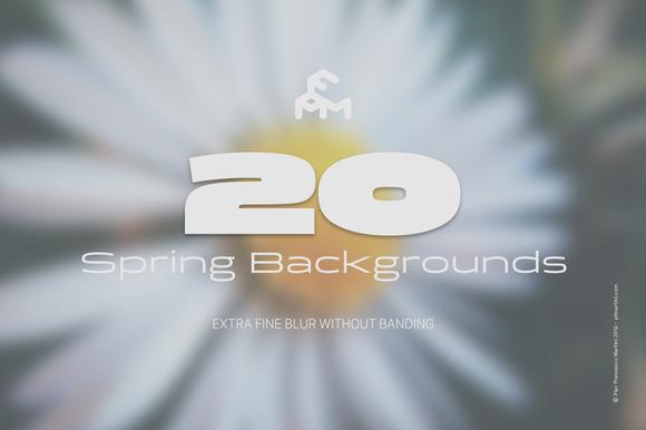 20 Spring Blurred Backgrounds