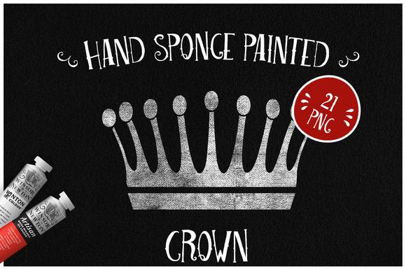 Sponge Painted Crown