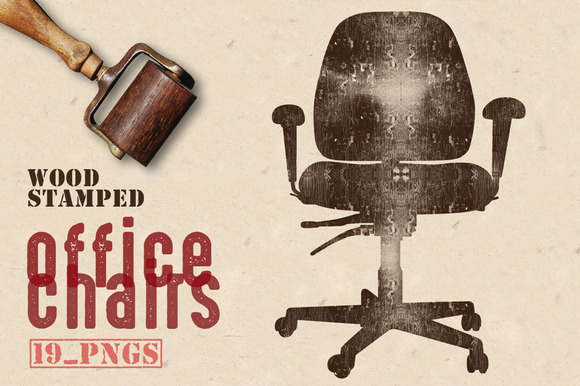 Wood Stamped Office Chairs