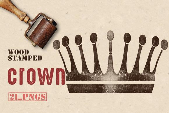 Wood Stamped Crown