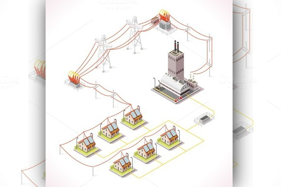 Electric Energy Distribution Chain