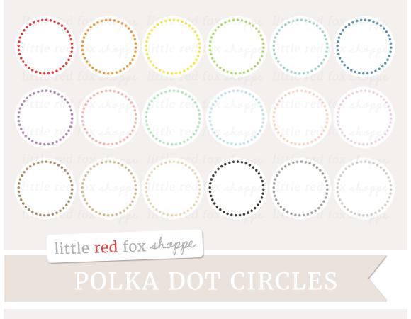 Polka Dot Circle Clipart