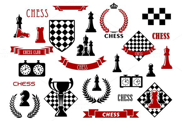 Chess Game Items Symbols And Icons
