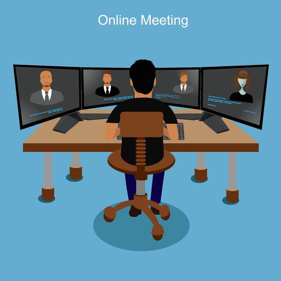 Online Meeting Vector Business