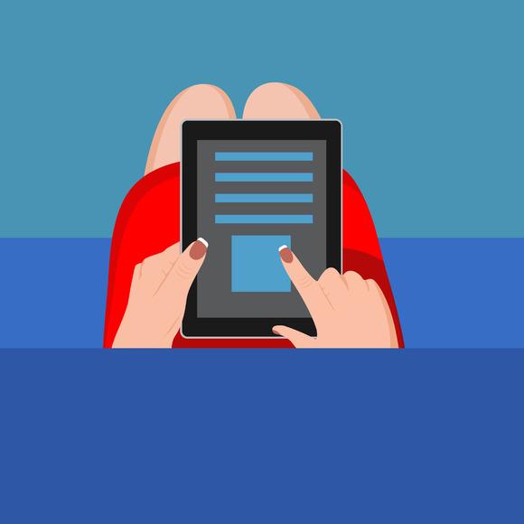 Hands Tablet Information Vector