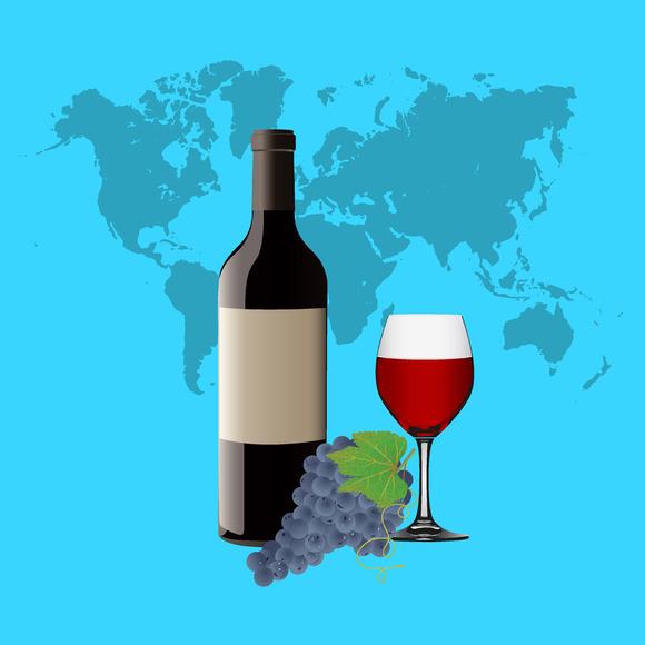 Wine Glass Red Wine Bottle Goblet