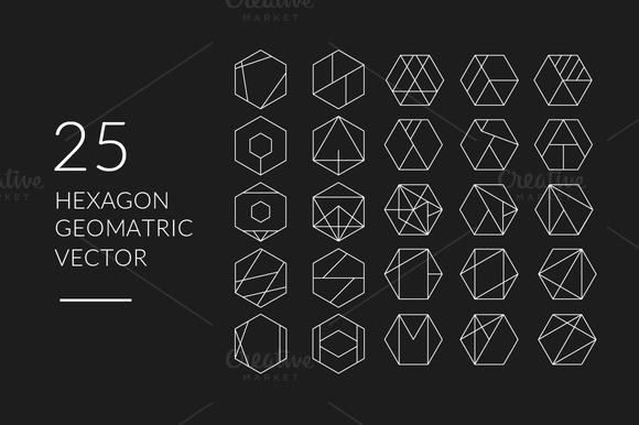 Hexagon Minimalist Geometric Vector