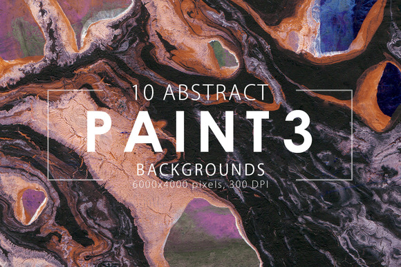Abstract Paint Backgrounds Vol. 3 - Textures