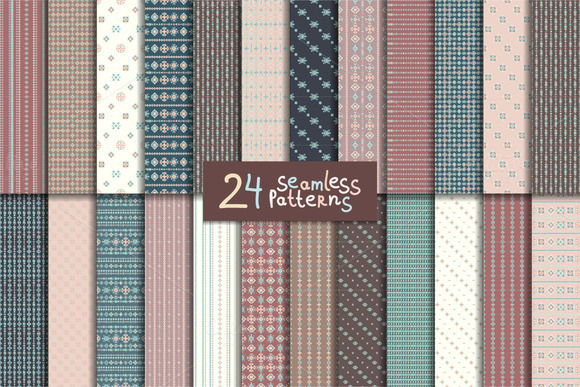 24 Aztec Seamless Patterns