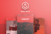 Garnet (Music App Ui)-Graphicriver中文最全的素材分享平台