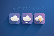 11 Rainy Day Icons-Graphicriver中文最全的素材分享平台