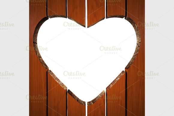 Heart Of Wooden Planks