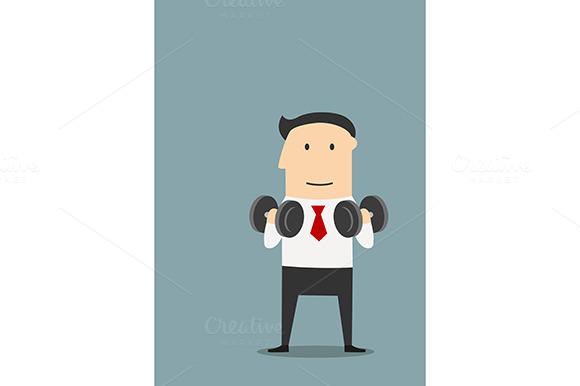 Businessman Doing Exercises