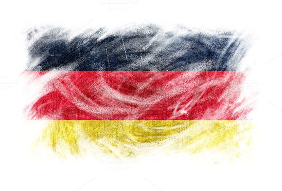 Germany Flag Blackboard Chalk Erased